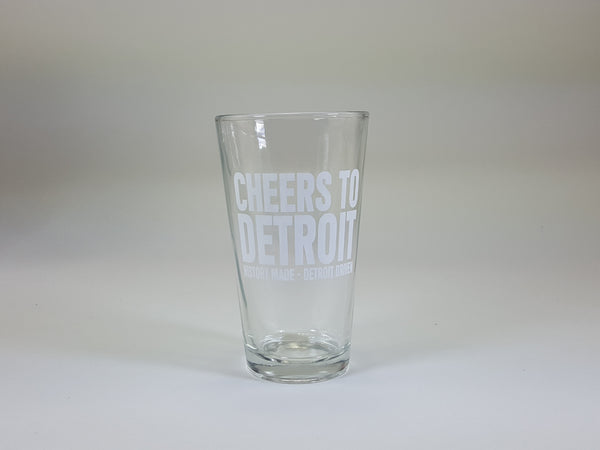 Cheers to Detroit Pint Glass