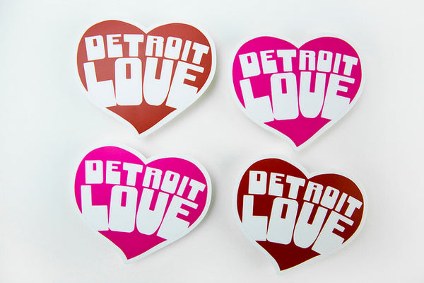 Color Detroit Love Decal