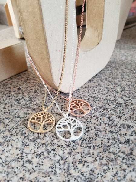 Tree of Life Necklace Gold, Rose gold, Silver, Copper
