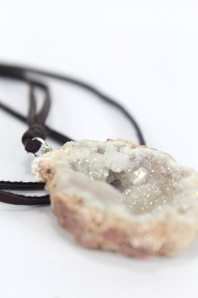 Treated Agate Druzy  - White