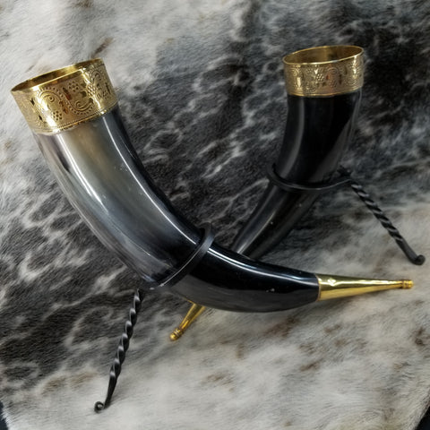 Drinking Horns, With Stand