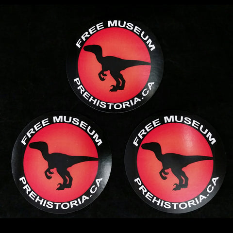 Prehistoria Raptor Stickers (Set of 3)