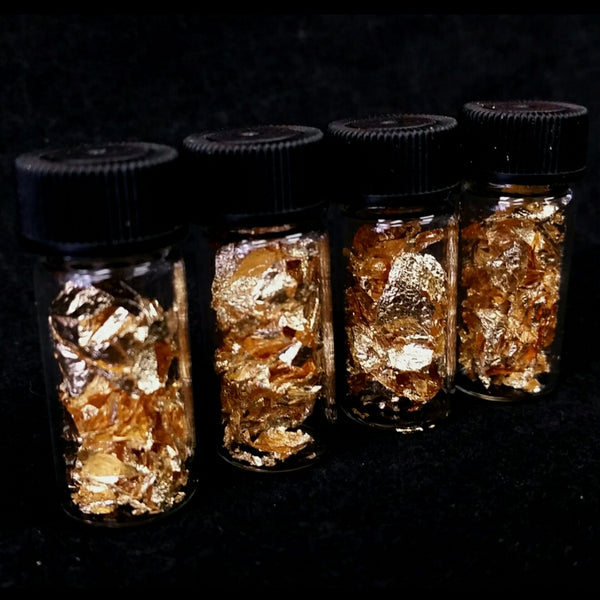 Gold Flake Jars, 1.5""