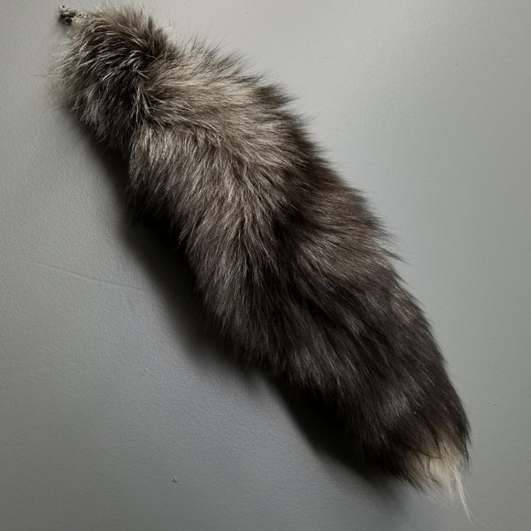 Silver Fox Tail Keychains