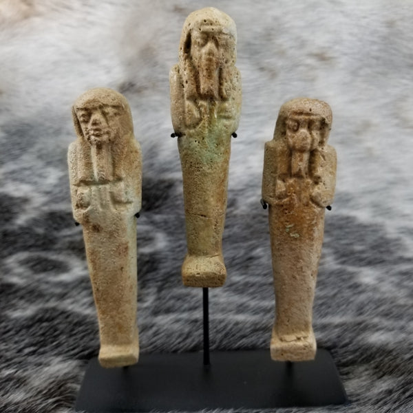 Ancient Egyptian Ushabti, Set of 3 (SALE)