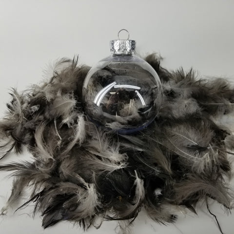 Crow Feather Holiday Ornaments