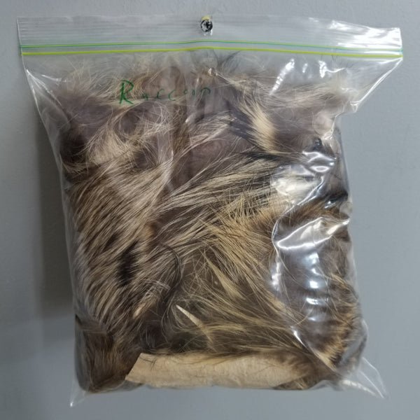 Raccoon Fur Scraps, Clearance Bags