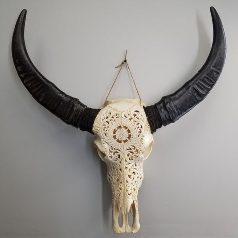 Water Buffalo H (Wheel of Life Carvings)