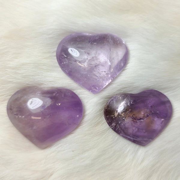 Amethyst Hearts (SALE)