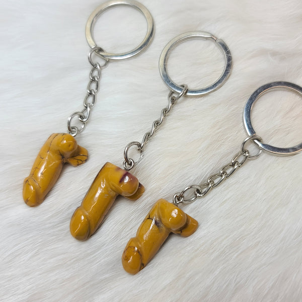Magic Wand Keychains, Yellow Agate