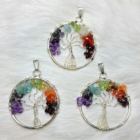 Tree of Life Crystal Pendants (CLEARANCE)