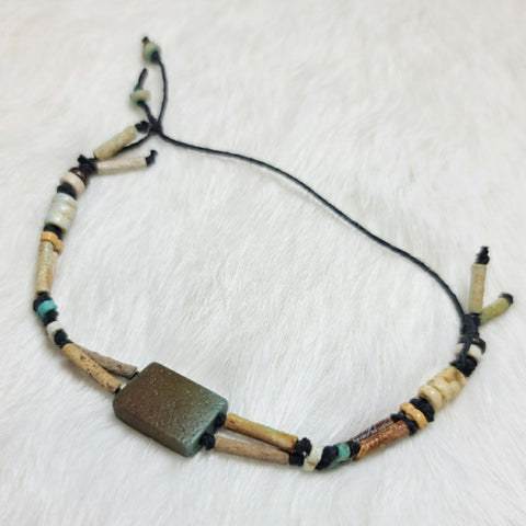 Ancient Egyptian Mummy Bead Bracelet E (Faience)