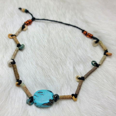 Ancient Egyptian Mummy Bead Bracelet F (Turquoise)