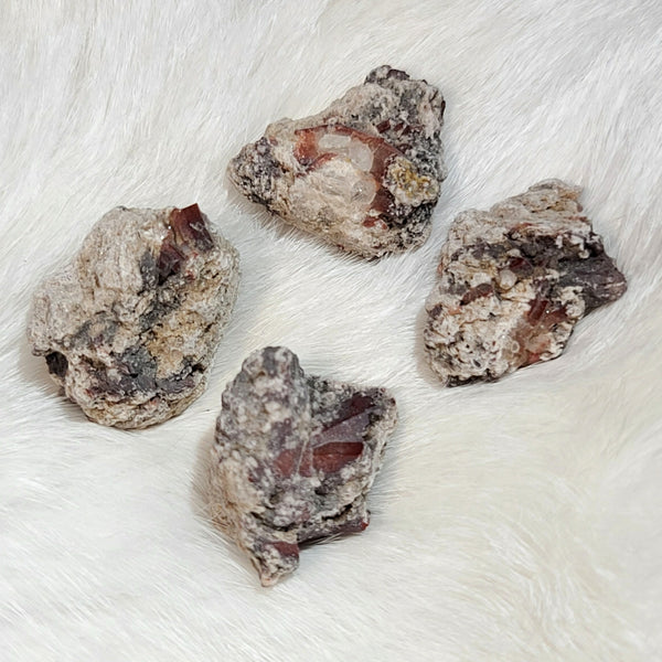 Mexican Red Topaz Crystals