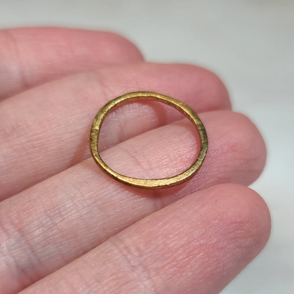 Viking Ring I, Gold Gilt (Size 5)