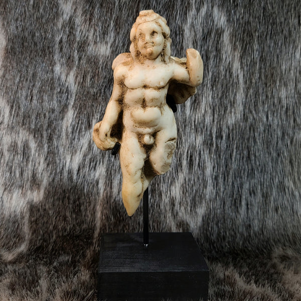 Ancient Roman Eros Marble Figurine (God of Love & Sex)