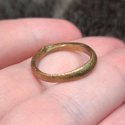 Viking Ring A, Gold Gilt (Size 5.5)