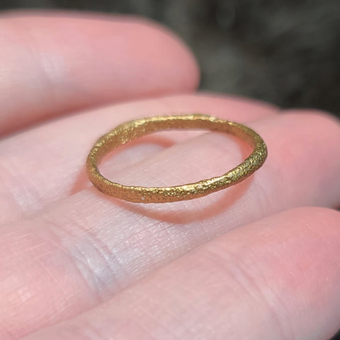 Viking Ring C, Gold Gilt (Size 6.25)
