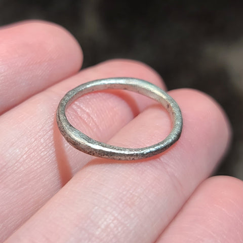 Viking Ring D, Silvered Bronze (Size 5.5)
