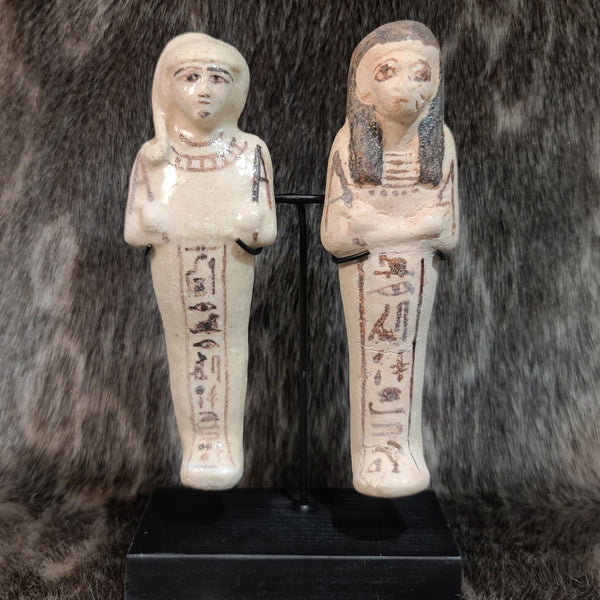 Ancient Egyptian Ushabti Pair