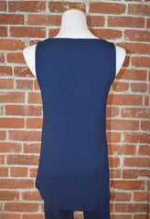 Seattle Skyline Curved Hem Tank, Navy