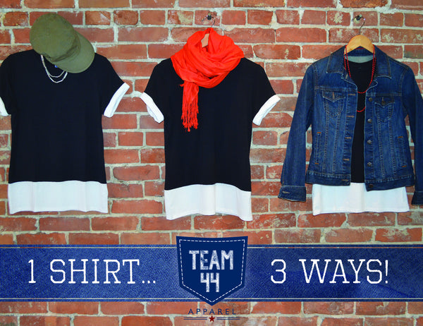 Seattle 12 Colorblock Tee, Navy