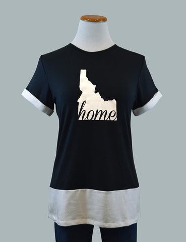 Idaho HOME Colorblock Tee, Black