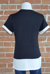 Colorblock Tee, Black