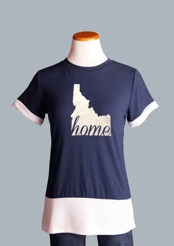 Idaho HOME Colorblock Tee, Navy
