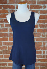 Crossover Back Tank, Navy
