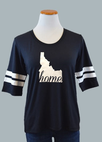 Idaho HOME Ringer Tee, Black