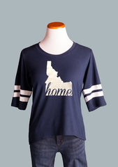 Idaho HOME Ringer Tee, Navy