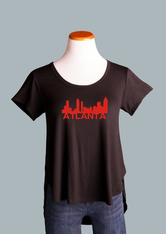 Atlanta Skyline Side Slit Tee