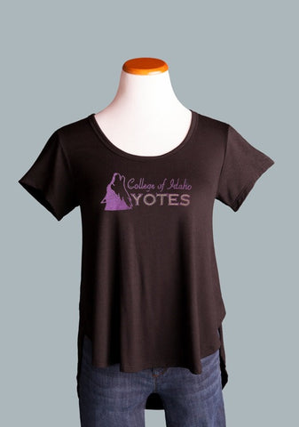 College of Idaho Side Slit Tee