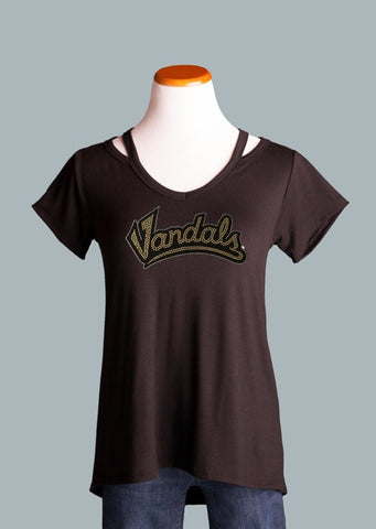 UI Vandals Shoulder Detail Tee