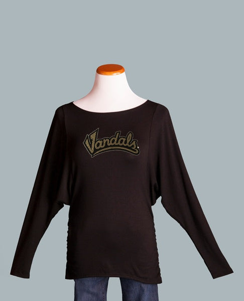 UI Vandals Ruched Side Top