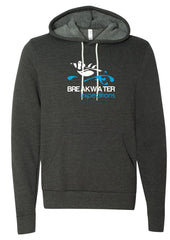 Breakwater Hoodie with blue and white logo