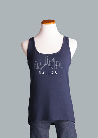 Dallas Skyline Curved Hem Tank