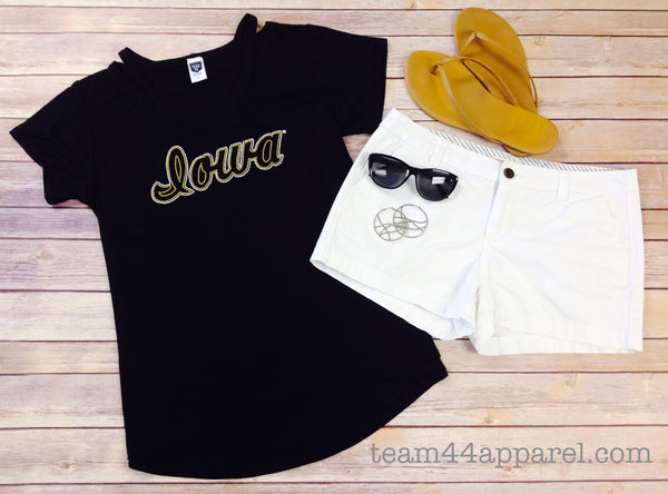 The University of Iowa, Shoulder Detail Tee