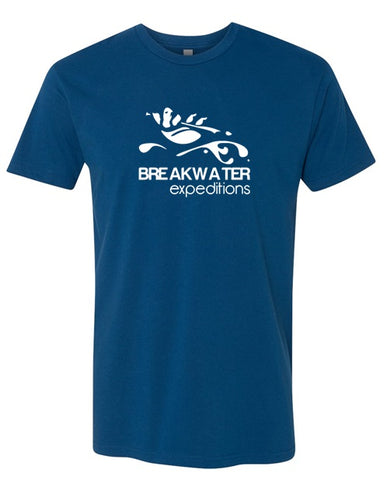 Breakwater Blue Tee with White logo
