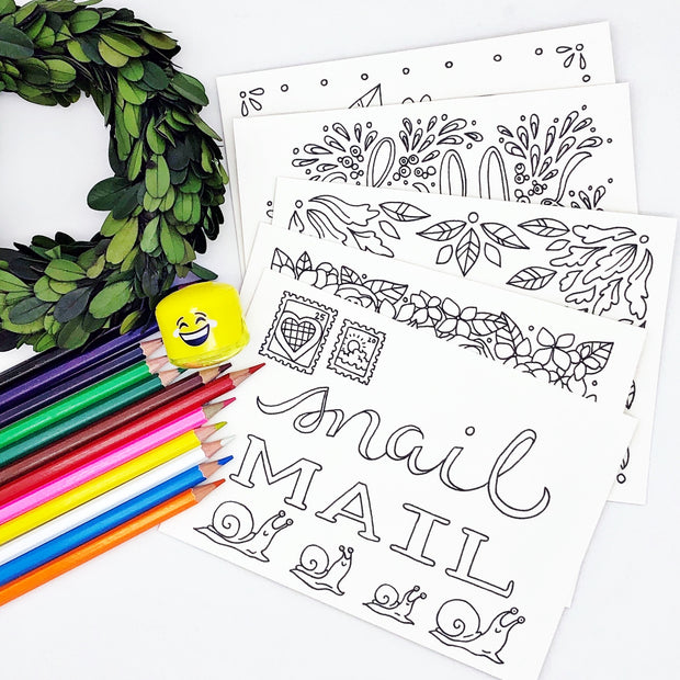 Coloring Postcard Bundle
