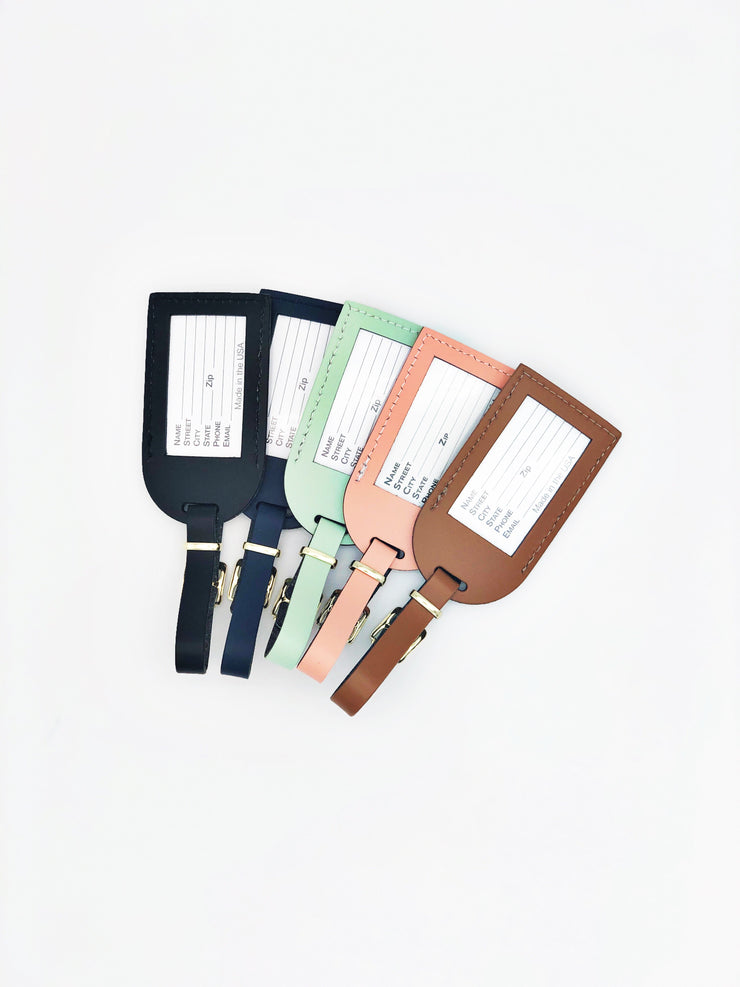 Handmade Bonded Leather Luggage Tags