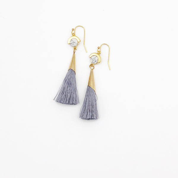 Space | Drop Tassel Earrings