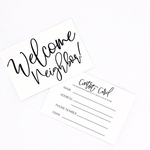 Welcome Neighbor Cards Set of 5