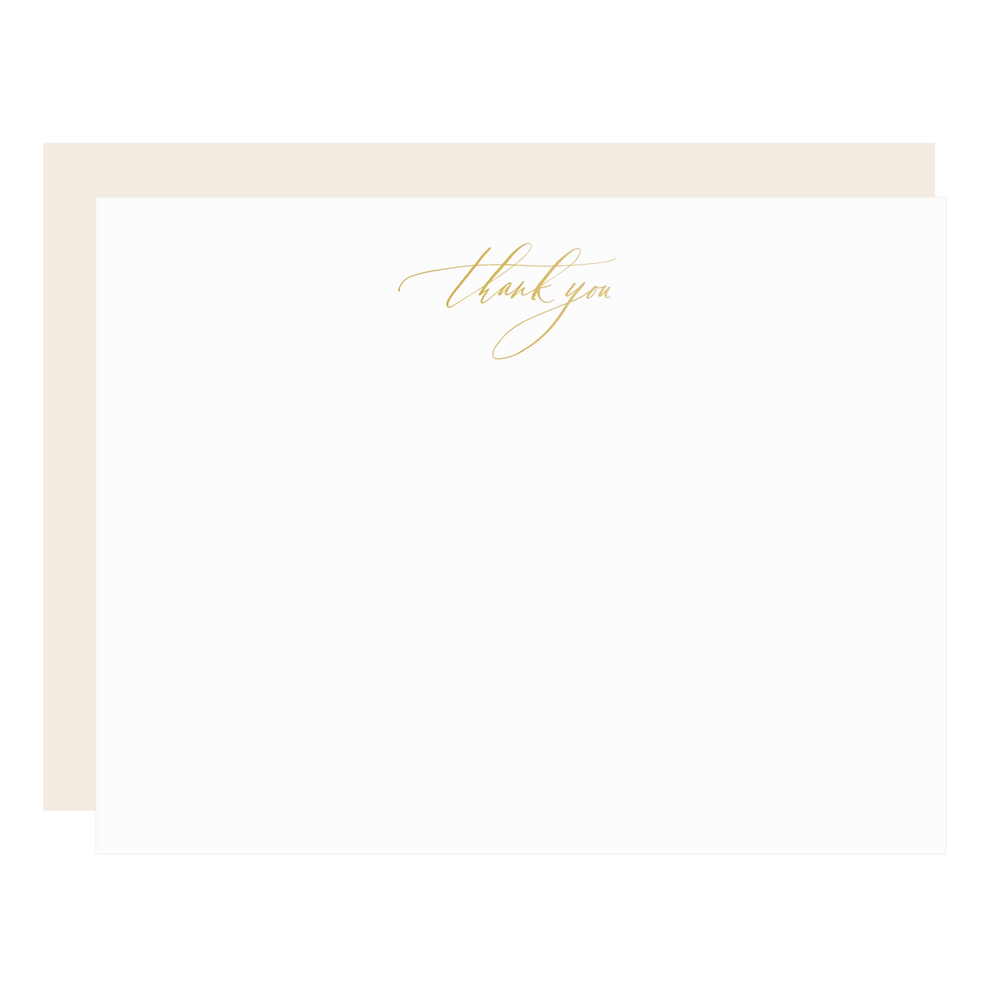 Little Well Paper Co. Gold Thank You Flat Boxed Note Set