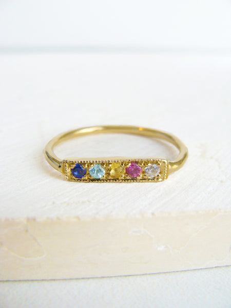 Honey Stone Stacking Ring