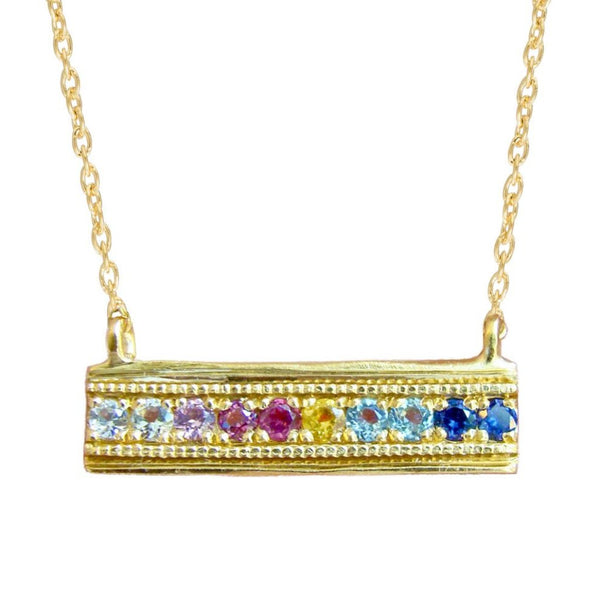FLORID TIER NECKLACE, GOLD