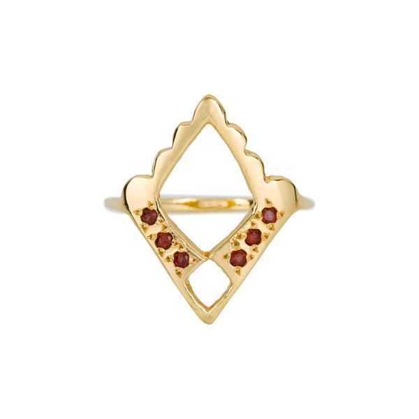ROYAL GARNET RING - GOLD