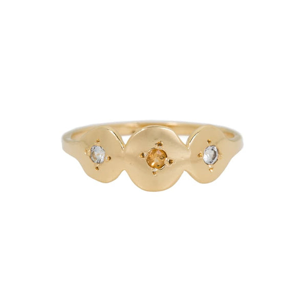 TRIAD CIRCLE STACKING RING - GOLD