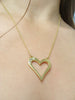 TOPAZ OPEN HEART PENDANT - GOLD